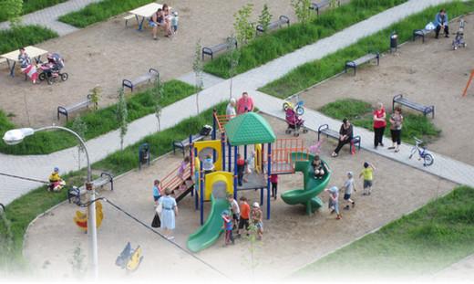 Детская площадка в Кузнечиках
